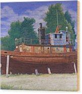 Antiquated Hudson River Tug Wood Print