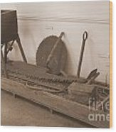 Antiquated Plantation Tools - 1 Wood Print