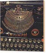 Antiquated Typewriter Wood Print