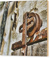Antique - Door Rail - Rusty Wood Print