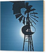 Antique Aermotor Windmill Wood Print