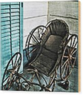Antique Baby Carriage Wood Print