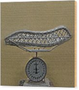 Antique Baby Scale Wood Print