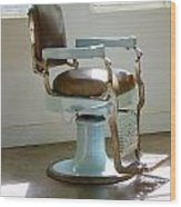 Antique Barber Chair Wood Print