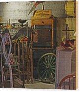 Antique Basement Wood Print
