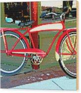 Antique Bicycle Wood Print