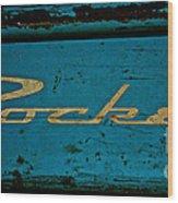 Antique Blue Wagon Wood Print