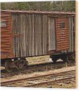 Antique Boxcar Wood Print