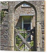 Antique Brick Archway Wood Print