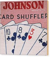 Antique Card Shuffler Wood Print
