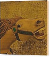 Antique Carousel Appaloosa Horse Wood Print