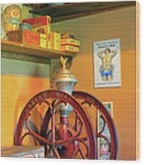 Antique Coffee Mill Wood Print