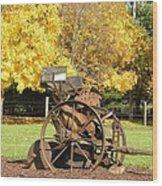 Antique Farm Equipment Wood Print