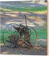 Antique Farm Equipment Wood Print