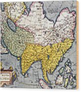 Antique Map Of Asia Wood Print