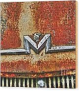 Antique Mercury Auto Logo Wood Print