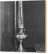 Antique Oil Lamp Wood Print