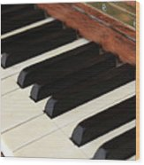 Antique Piano Wood Print