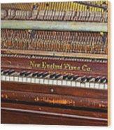 Antique Piano Wood Print