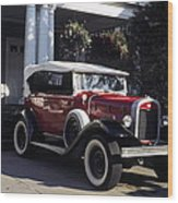 Antique Red Convertible Wood Print