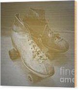 Antique Roller Skates Wood Print by Jost Houk