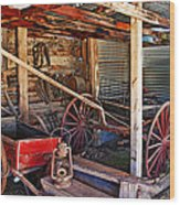 Antique Shed Wood Print by Melany Sarafis
