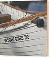 Antique Us Coast Guard Boat Wood Print