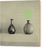 Antique Vases Still Life Altered I Wood Print