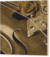 Antique Violin Viola Wood Print