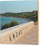 Anzac Wood Print