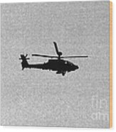 Apache Attack Helicopter Wood Print