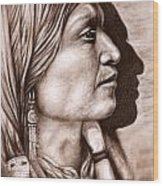 Apache Chief Wood Print