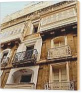 Apartment In Malta Wood Print