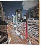Apartments Wood Print