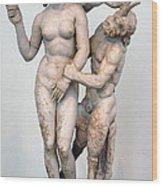 Aphrodite Pan And Eros Wood Print