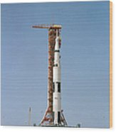 Apollo 10 Space Vehicle On The Launch Wood Print