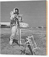 Apollo 13 Astronaut Walks Wood Print