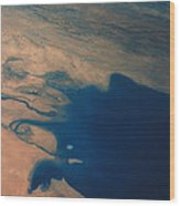 Apollo 7 Photograph Of Kuwait, Iraq & Iran Wood Print by Nasa
