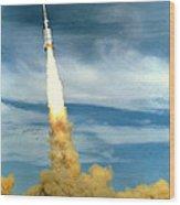 Apollo Mission Test Wood Print