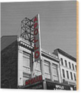 Apollo Theater In Harlem New York No.2 Wood Print