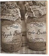Apple Butter in Sepia Wood Print