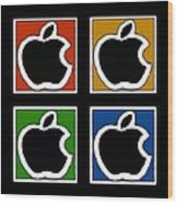 Apple Colors Wood Print
