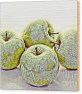 Apple Dust Wood Print by David Taylor
