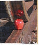 Apple Juice Railroad 4 Wood Print