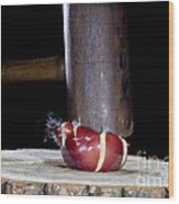 Apple Smashed With Mallet Wood Print