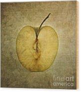 Apple Textured Wood Print