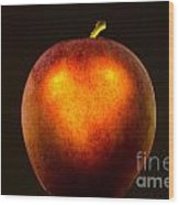 Apple With A Illuminated Heart Wood Print