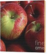 Apples For Sale Wood Print