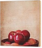 Apples In Color Wood Print