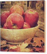 Apples Wood Print